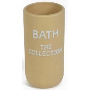 """Ποτηρακι μπανιου """"Τhe Collection"""" μπεζ"""